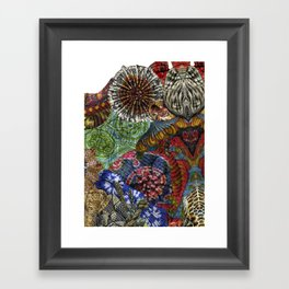Psychedelic Botanical 3 Framed Art Print