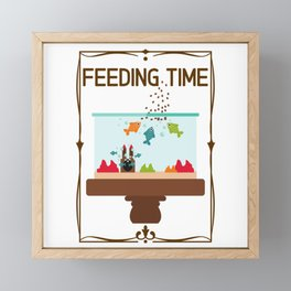 Feeding Time - Fish In The Aquarium Framed Mini Art Print