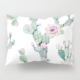 Arizona Desert Rose Cactus Pattern Pillow Sham