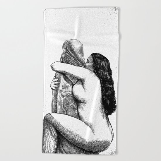 asc 640 - L'Itiphalle (Can't get enough of your love, Darling) Beach Towel