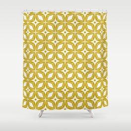 Starburst - Gold Shower Curtain