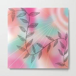 Tropical Rays Metal Print
