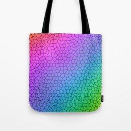 Rainbow Ombre Crackle Design Tote Bag