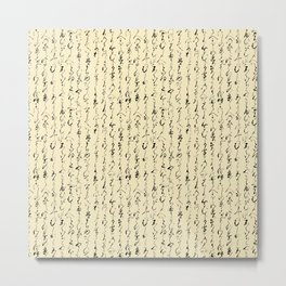 Ancient Japanese on Parchment Metal Print