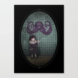 Girl wih Octopus Canvas Print
