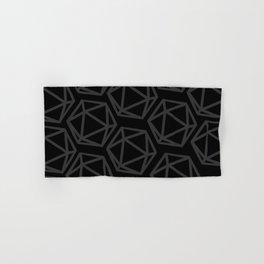 D20 Pattern - Grey & Black Hand & Bath Towel