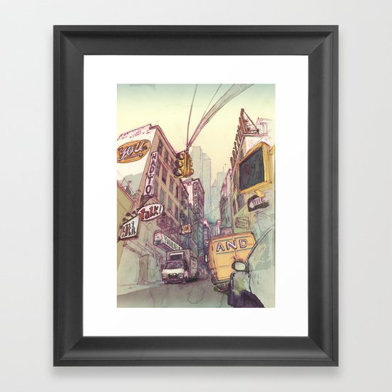 ...Reason With Yourself at Night Framed Art Print