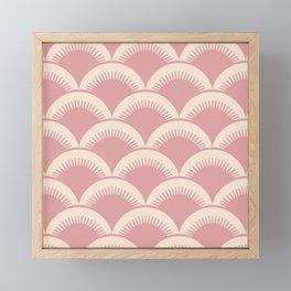 Japanese Fan Pattern Dusty Rose 2 Framed Mini Art Print