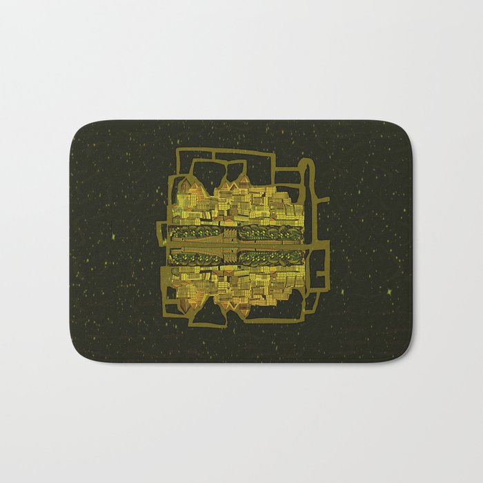 Space Colonization Bath Mat