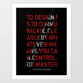 To Design by Milton Glaser Art Print