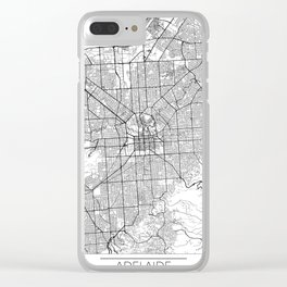 Adelaide Map White Clear iPhone Case
