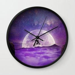 balance boy moonlight Wall Clock