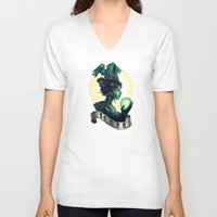wicked V-neck T-shirts featuring WICKED by Tim Shumate