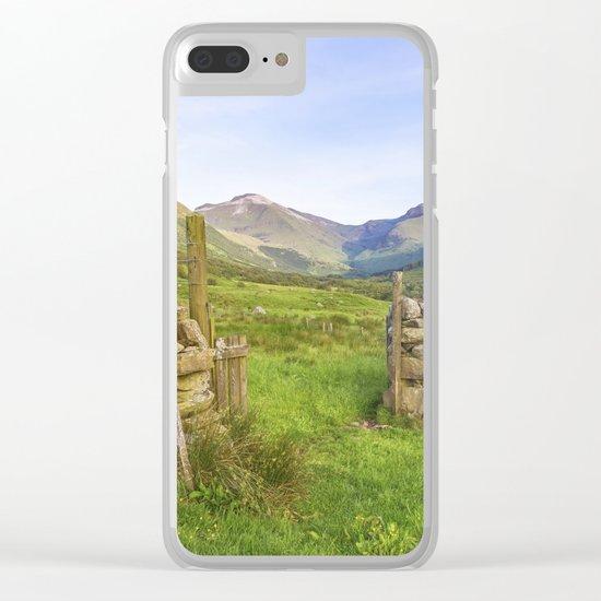 Ben Nevis Mountain Range Clear iPhone Case