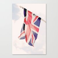 british flag Canvas Prints featuring British Flag by Rachael Jane