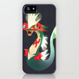 Gyarados/Toxtricity/Dragapult Fusion iPhone Case