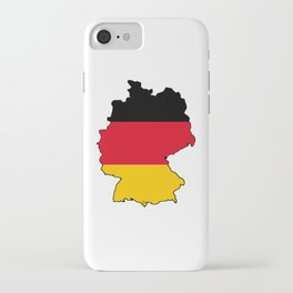 Germany Map with German Flag iPhone Case