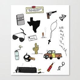 Preacher Flash Sheet Canvas Print