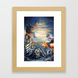 The Road Trip Has Kicked In Framed Art Print