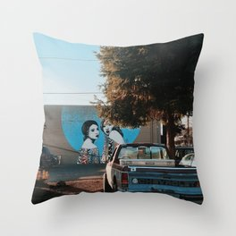 Small town Vibes Throw Pillow