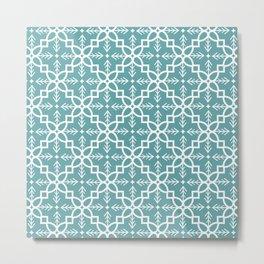 woodland blue quilt Metal Print