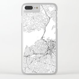 Auckland White Map Clear iPhone Case