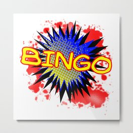 Bingo Comic Exclamation Metal Print