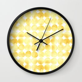 Imperfect Geometry Yellow Circles Wall Clock