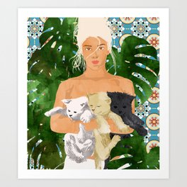 Morocco Vacay #illustration #painting Art Print
