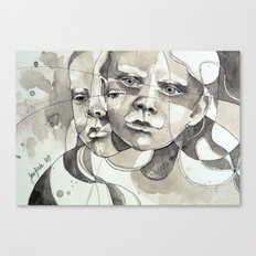 Made of two Canvas Print
