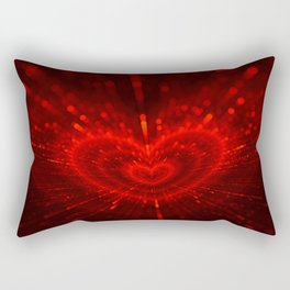 Cupid's Arrows | Valentines Day | Love Red Black Heart Texture Pattern Rectangular Pillow