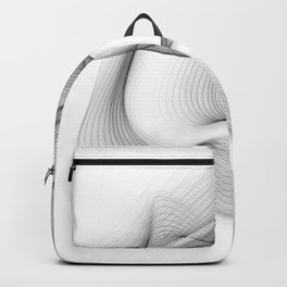Minimal black and white smoky flux in motion #abstractart #decor Backpack