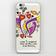 Love is louder iPhone Skin
