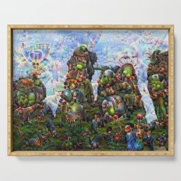 DeepDream Pictures, Rocks Serving Tray