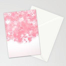paint splatter on gradient pattern bbpw Stationery Cards