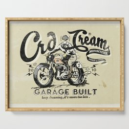 Crd Cream Motorcycles Serving Tray