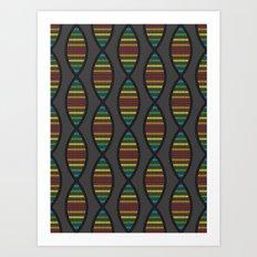 Rainbow DNA Art Print