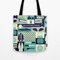 risa rodil Tote Bags featuring Carry on my wayward son by Risa Rodil