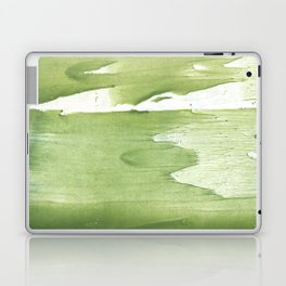 Green khaki clouded wash drawing texture Laptop & iPad Skin