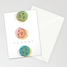 3 heads Stationery Cards