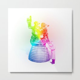 Rainbow Rocket Scientist Metal Print