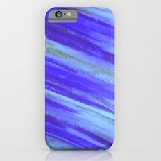 WASHED UP - Bold Blue Stripes Abstract Watercolor Painting Colorful Fun Surfer Ocean Waves iPhone 6s Slim Case