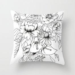 Botanical Bouquet Throw Pillow