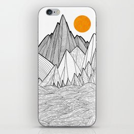 The waves and the mountains under the sun iPhone Skin