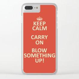 Keep Calm...Destroy! Clear iPhone Case