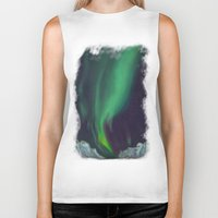northern lights Biker Tanks featuring northern lights by Ewa Pacia