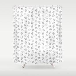 Pangnupark Hippo Bear B&W I Shower Curtain