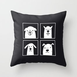 dog dog dog dog Throw Pillow