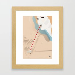 """When the letter """"I"""" turns into and eye Framed Art Print"""