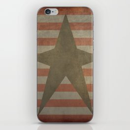 Patriotic Grunge Star on Stripes iPhone Skin